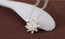 Load image into Gallery viewer, Sterling Silver Lotus Flower Necklace Pendant