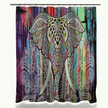 Load image into Gallery viewer, Elephant Printed Shower Curtain and Anti-slip Bath Mat Set