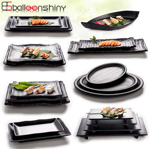 Modern Melamine Outdoor / Indoor Black Frost Serving Dishes.