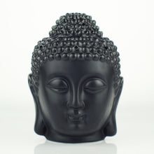 Load image into Gallery viewer, Ceramic Aromatherapy Oil Burner Buddha Head Aroma Essential Oil Diffuser Indian Incense Buddha Tibetan Incense Burner S