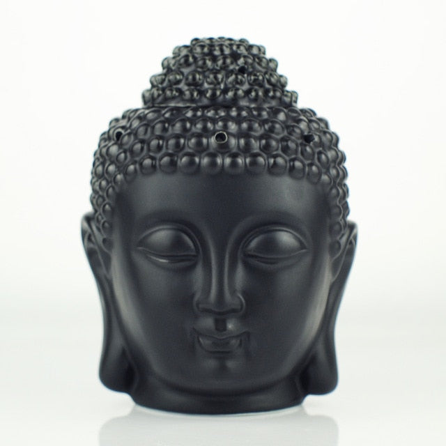 Ceramic Aromatherapy Oil Burner Buddha Head Aroma Essential Oil Diffuser Indian Incense Buddha Tibetan Incense Burner S