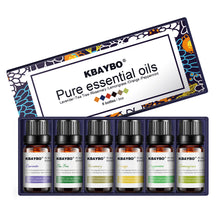 Load image into Gallery viewer, Kbaybo 6 Bottle Set of Pure Essential Oils for Aromatherapy Diffusers