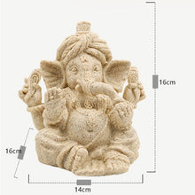Load image into Gallery viewer, Ganesha Hindu Elephant God Sandstone Statue
