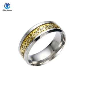 Vintage Style Dragon stainless steel Men's Ring