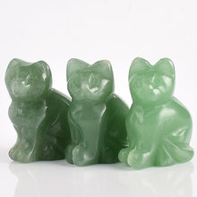 Load image into Gallery viewer, Aventurine Cat Totem Statue