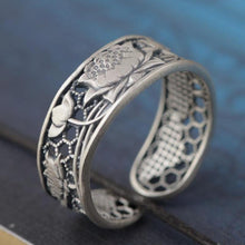 Load image into Gallery viewer, Sterling Silver Lotus Flower OR Phoenix Bird Women's Ring