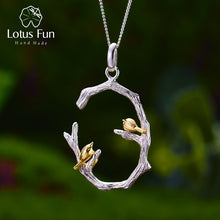 Load image into Gallery viewer, Two Tone Sterling Silver Bird Necklace