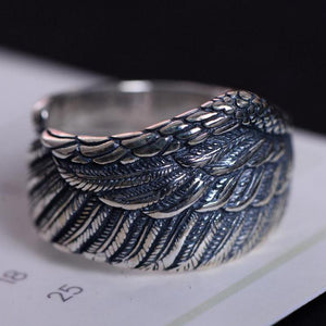 Sterling Thai Silver Angel Wing Ring