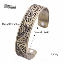 Load image into Gallery viewer, My Shape Silver Plated Magnetic Bracelets Bangles for Women Viking Cuff Bangle Bracelet Men Life Tree Engraved Jewelry