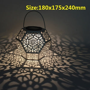 Solar Garden Light Projection Hanging Lamp