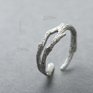 Cherry Blossom And Branch Stackable Ring
