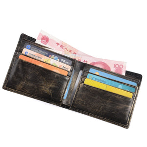 Men's Leather Dragon Design Multi-Card Wallet
