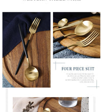 Load image into Gallery viewer, Stainless Steel Silverware cutlery Dinnerware Set