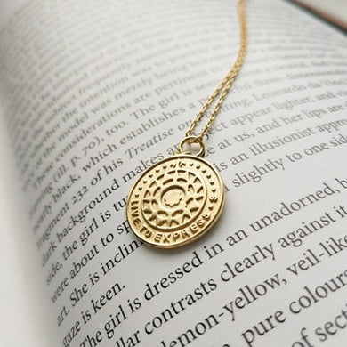 Sterling Silver Gold Tone Tarot Card Necklace