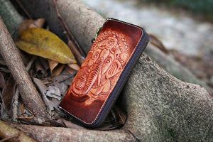Men's Leather Ganesh Elephant Wallet