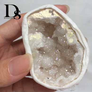 Natural Agate  Drusy Geode