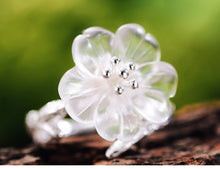 Load image into Gallery viewer, Sterling Silver Crystal Flower Set