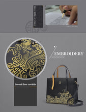 Load image into Gallery viewer, Leather Shoulder Bag with Embroidery