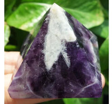 Load image into Gallery viewer, Natural Dream Amethyst  Crystal Pyramid
