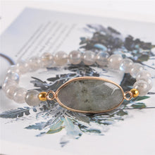 Load image into Gallery viewer, Stretchy Labradorite Beaded Bracelet