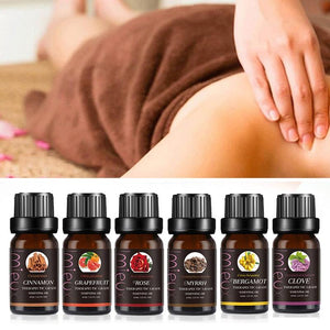 100% Pure & Natural Essential Oils Individual Bottles for Massage and Aromatherapy 8 Scents