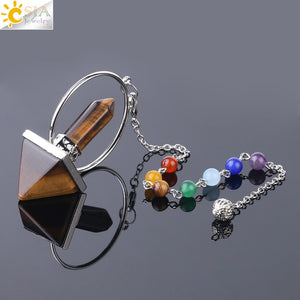 Natural Stone Pendulum for Dowsing with Prism