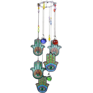 Hamsa Sun Catcher Wind Chime