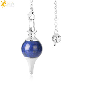 Crystal Pendulum with Natural Stone