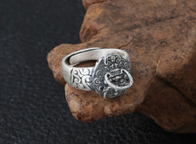 Load image into Gallery viewer, Handmade 990 Silver Fengshui Lion Ring