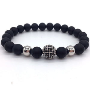 NAIQUBE 2019 Fashion Geometric Bracelets Men Classic Fashion Stone Bead Charm Bracelets & Bangles For Men Jewelry Gift
