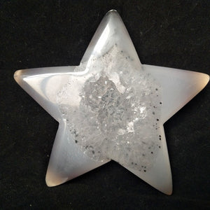 Natural Agate Star Shaped Crystal