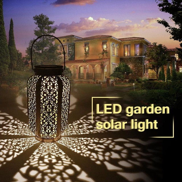 Moroccan Style Solar Hanging Garden LED Light