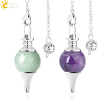 Load image into Gallery viewer, Crystal Pendulum with Natural Stone