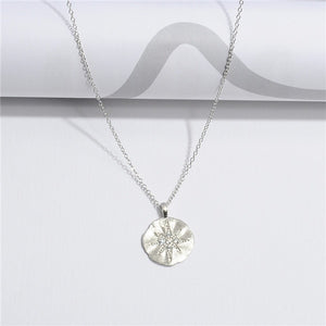925 Sterling Silver Necklace with North Star Design