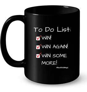 Things to Do...Win! Black Mug
