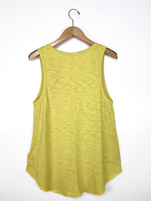 slub cotton button tank