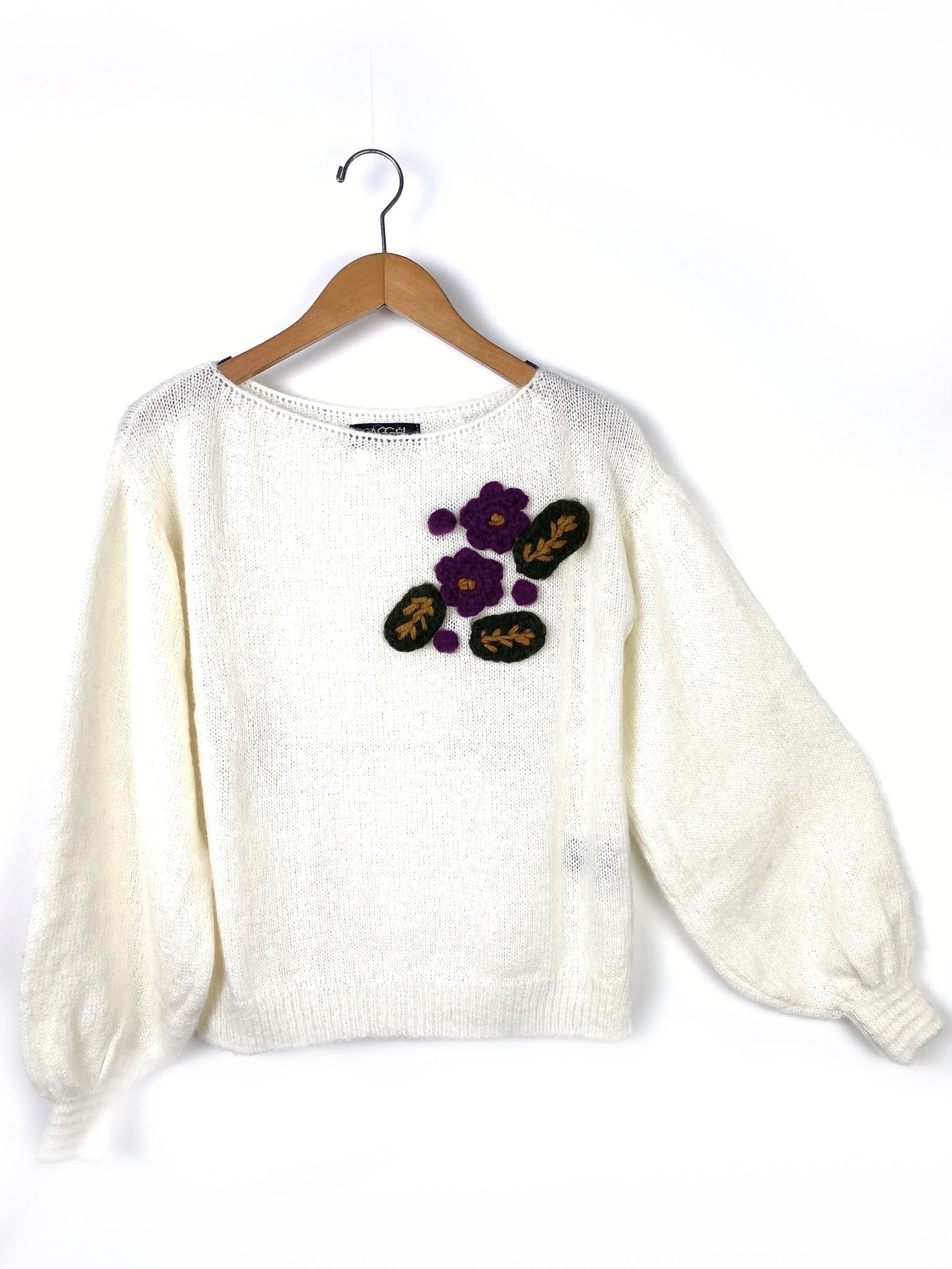 handmade floral sweater
