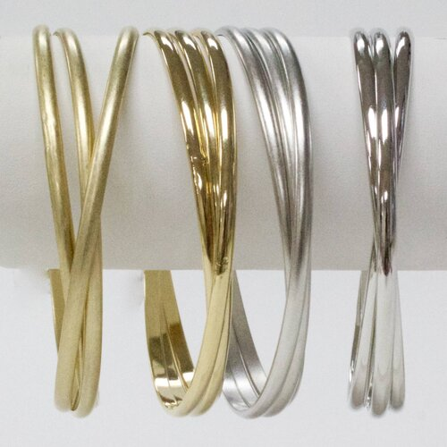 triple smooth bangle set