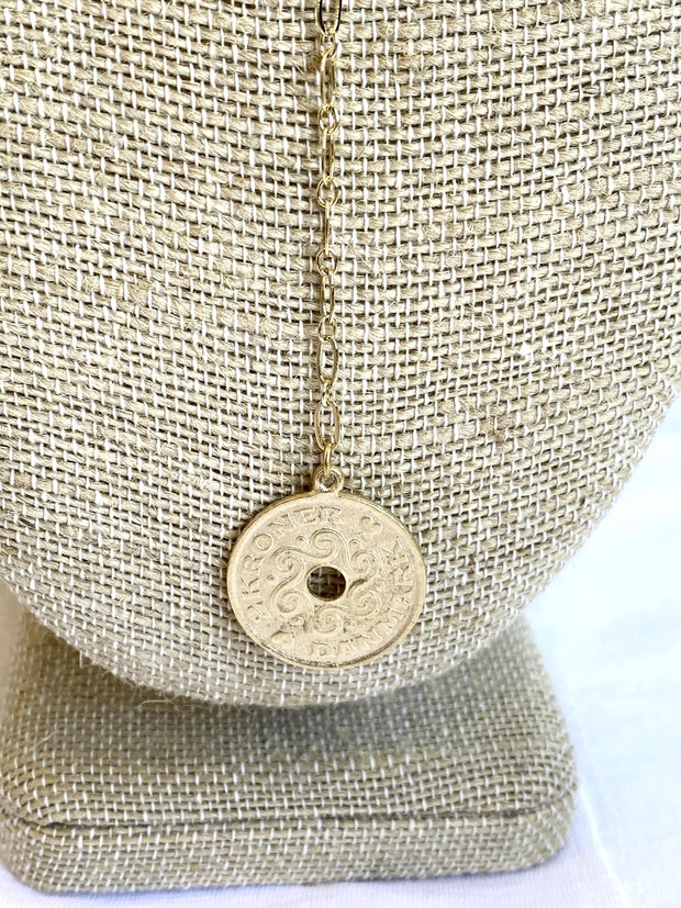 y coin necklace