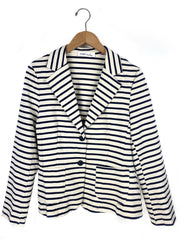 striped stretch blazer