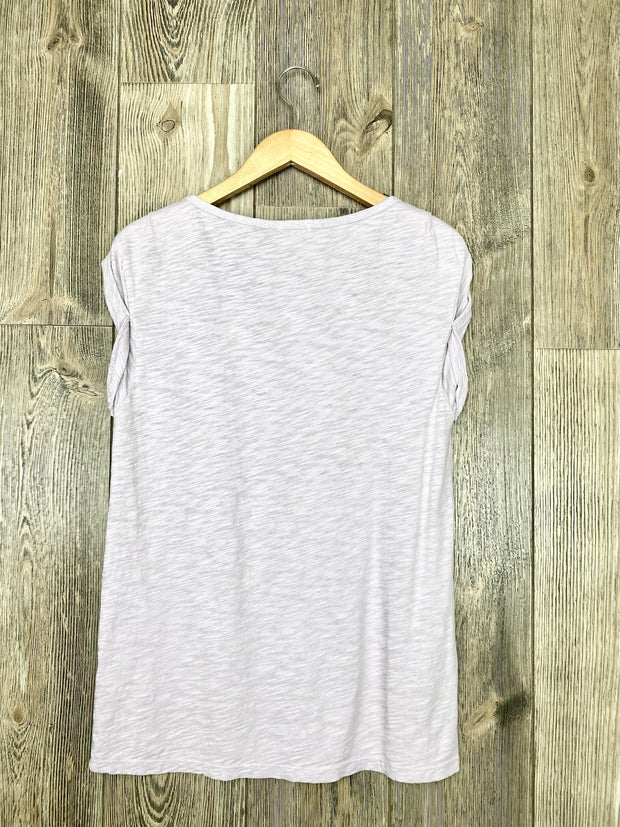 slub cotton rolled cuff tee