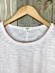slub cotton tie sleeve tee