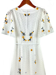 eka embroidered dress