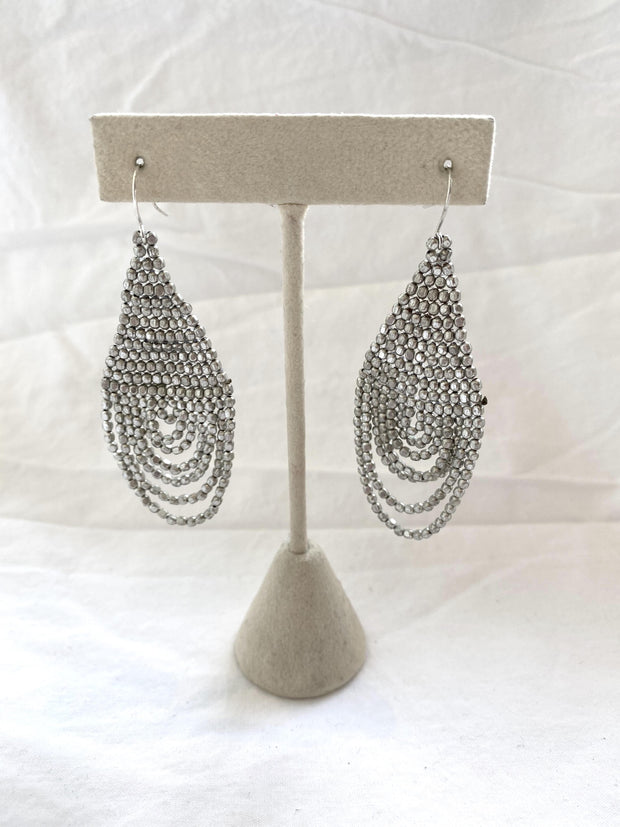 beaded chandelier earring