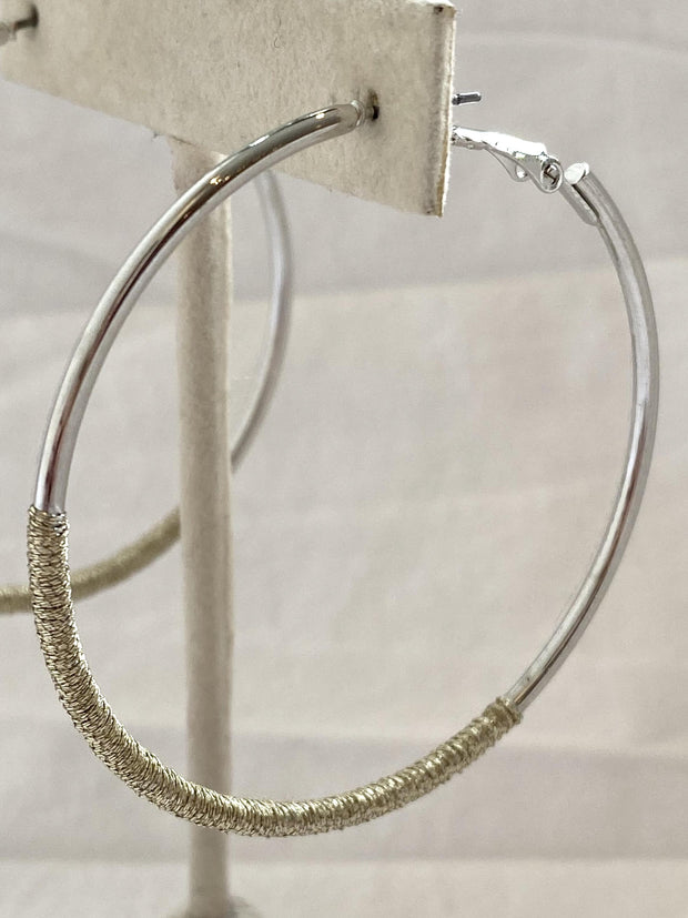 large thread wrapped hoop