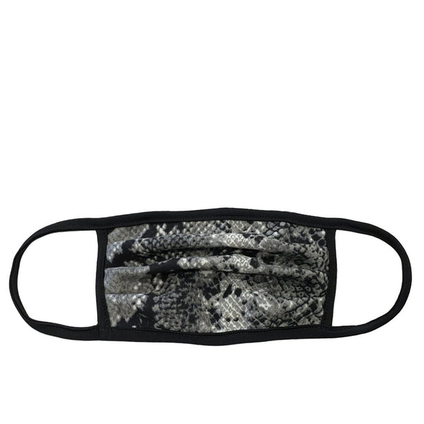 adult mask - grey snakeskin print