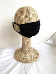 adult mask - black solid