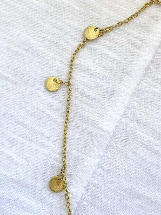 dancing coins necklace