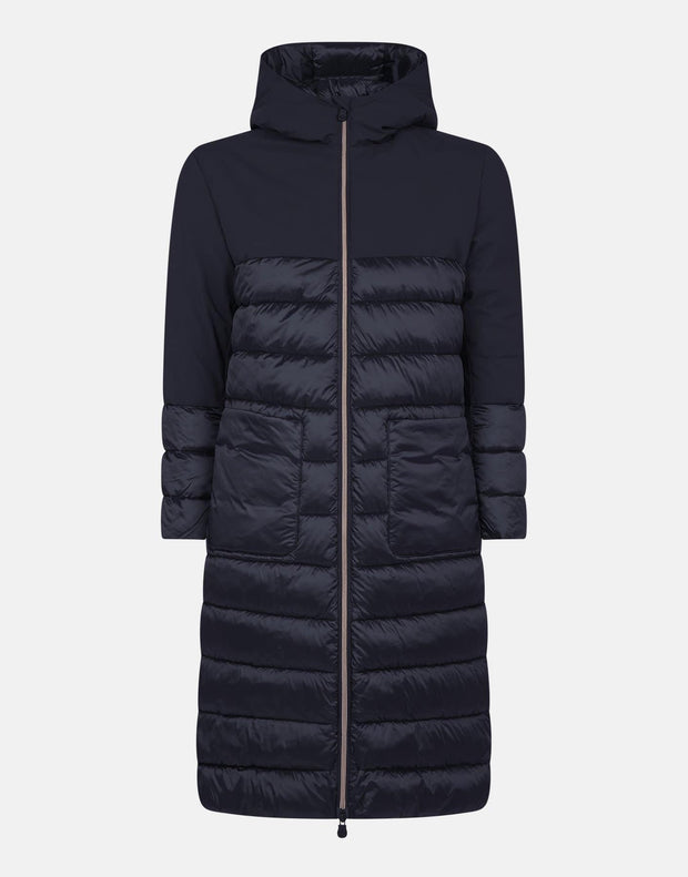 irma long hooded coat