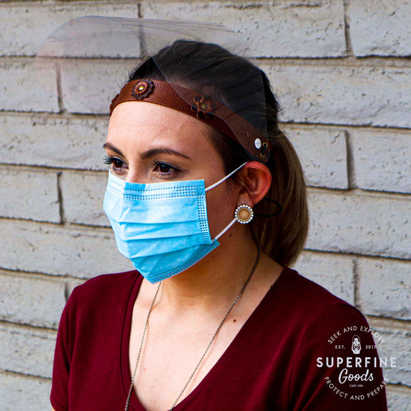 Leather Band Face Shields